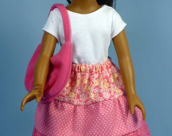 Peasant Skirt or Petticoat Pattern to fit 5 dolls, Like Hearts for Hearts Girls and BFC Ink large slim dolls