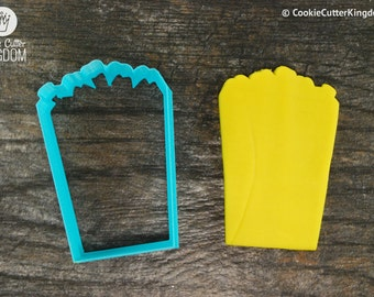 Popcorn Cookie Cutter, Mini and Standard Sizes, 3D Printed