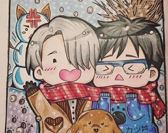 Yuri and Victor Snow day