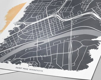 Saint Paul Minnesota Map - Custom Print