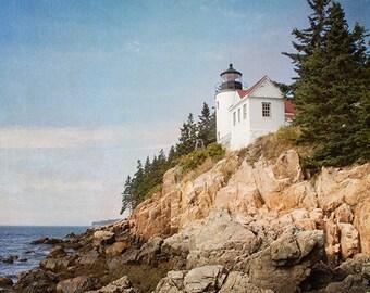 Maine Photography, Lighthouse Photograph, Coastal Photography, Nature, Dramatic Landscape, Ocean Photography, Seaside Art, Beach Photography