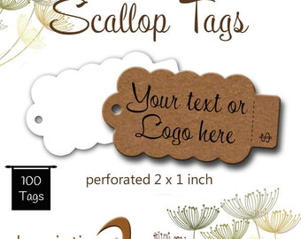 Tags - Hang Tags - Swing Tags - Perforated Price Tags - Price Tags - Jewelry Tags - Product Tags - Packaging- Jewellery Cards - Scallop Tags