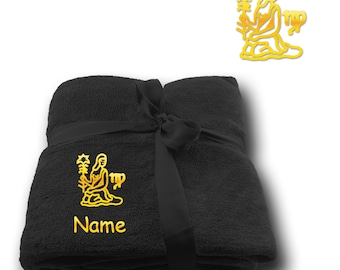 Blanket embroidered with Star sign Virgo  + Name