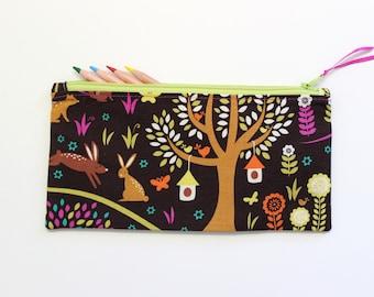 Animals Pencil Case, Pencil Pouch, Cute School Supplies, Gifts For Girls, Zipper Pouch