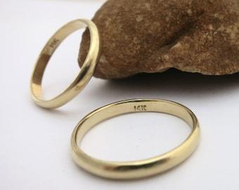 Wedding bands, Yellow gold wedding bands, Gold wedding ring set, Wedding bands set, Minimalist wedding bands, Minimalist jewelry, 14k band
