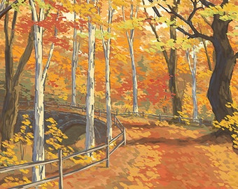 Indiana - Fall Colors (Art Prints available in multiple sizes)