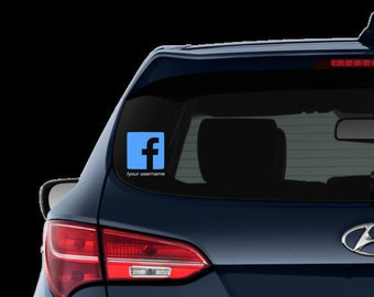 Car Decal: Customizable Subscribe to me on Facebook