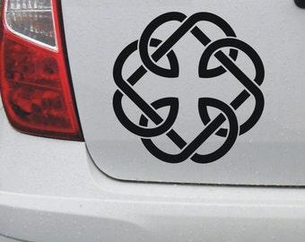 Celtic 'Fatherhood' knot 1 - vinyl car bike window decal bumper sticker - DEC1127