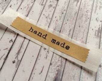 24 Handmade Vintage Labels