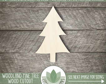 Pine Tree Wood Cutout, Wooden Pine Tree Shape, Unfinished Wood For DIY Projects, Many Sizes, Rustic Wedding Decorations, Wood Shape Cutouts