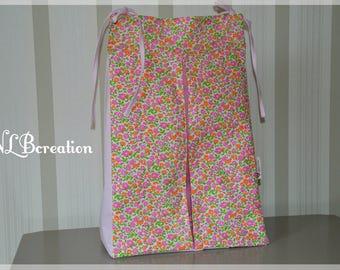 Liberty diaper bag - pink / Fleur