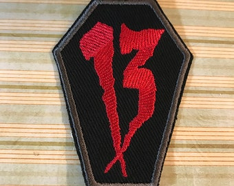 Lucky Number 13 Coffin Patch - CUSTOM COLOR