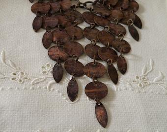 Etcher Copper Bib Necklace - 22 inch