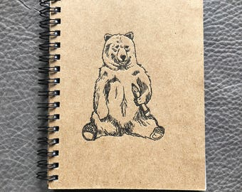 Bear Letterpress Notebook
