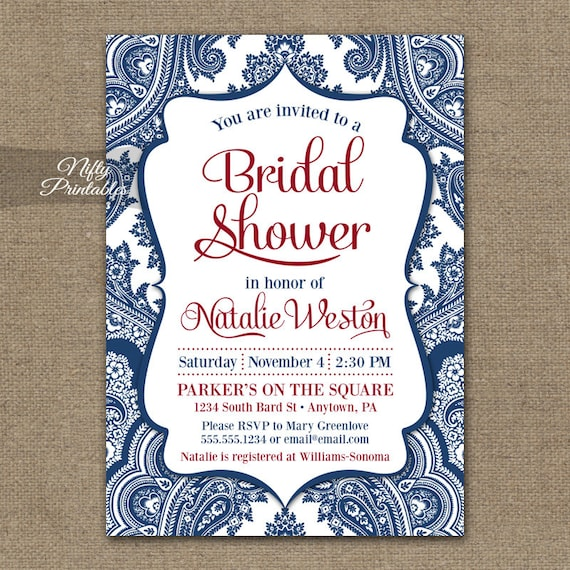 Navy blue bridal shower invitations printable red white blue navy blue bridal shower invitations printable red white blue bridal shower invites navy blue and white damask bridal invitation bdm filmwisefo Images