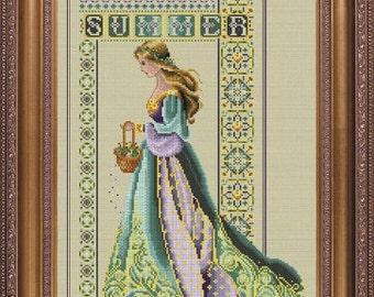 Celtic Summer Counted Cross Stitch Chart Pattern Lavender & Lace Marilyn Leavitt-Imblum LL56