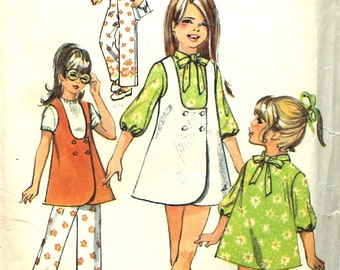 Girl's cute Tunic, Dress, Top and Pants Size 12 Simplicity 8716