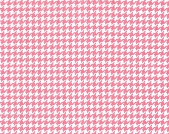 By The HALF YARD - Tiny Houndstooth by Michael Miller, Pattern CX4835, Pink and White