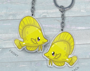 Yellow Tang - Acrylic Phone Charm / Keychain / Necklace
