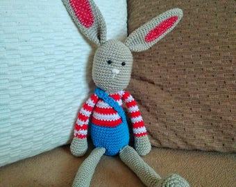 Crochet amigurumi long-ear rabbit