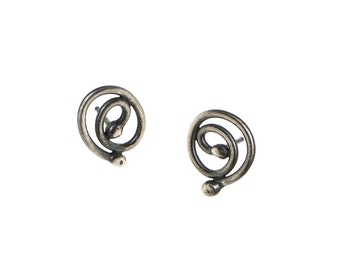 Fused Ball Spiral Earrings