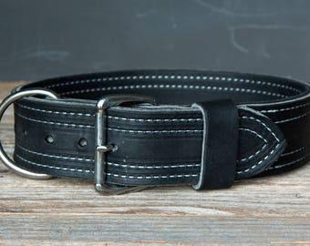 "2"" Leather Agitation Collar"