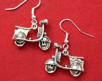 Vespa Earrings, Scooter Charm Earrings, Italy Themed Gifts
