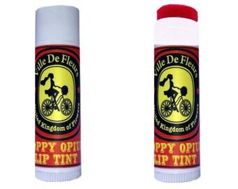 Poppy Opium Red Lip Tint / Blusher -Vegan Tinted lip balm/ Blusher