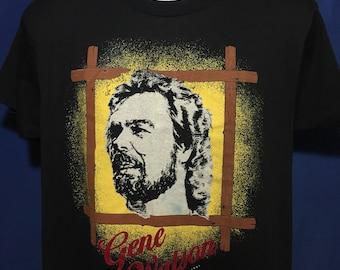 Vintage 1991 Gene Watson Country music singer songwriter t shirt thin soft screen stars *M