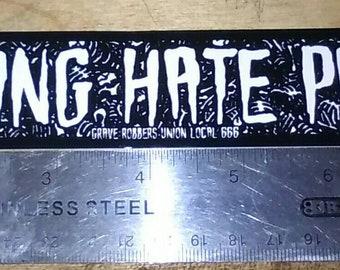 "Vinyl Sticker ""I Fucking Hate People!"" Goth, Horror, Misanthrope, Introverts"