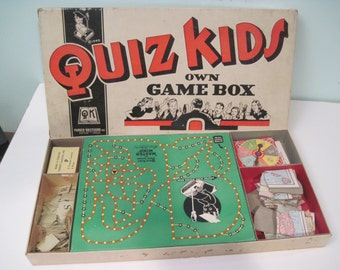 QUIZ KIDS radio show 1940s board game Parker Brothers