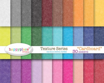 Digital Rainbow CARDBOARD Texture Digital Papers - Scrapbooking, Background, Invitation Supplies. Commercial use ok.