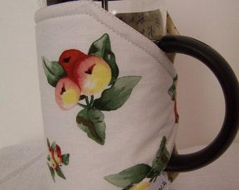 French press cozy, Bodum cozy sleeve, Pretty Press pot cozie