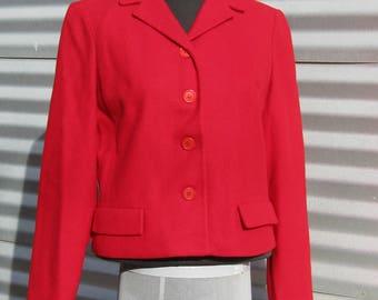 Vintage 1960's , Majestic Cropped Red Jacket