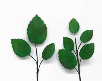 Gumpaste Rose Leaf Spray