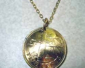 Barbados Lighthouse necklace-nicely domed-free shipping