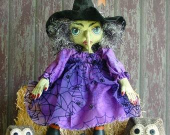 CF266 Fancy Nancy's Hooters Witch Doll Sewing Pattern e-Pattern PDF