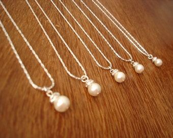8 Bridesmaids Gift Necklaces Simple & Elegant - gift under 15