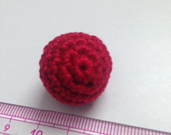 Red cherry bead 2 CM hook
