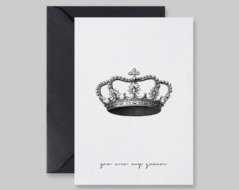 Valentine Card, Card For Girlfriend, Valentines Day Card, You Are My Queen, Card For Wife, Cards For Her, Printable Card