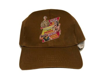 WWF Macho Man Ultimate Warrior Wrestling Jean Cap hat size Adult sz M (1)