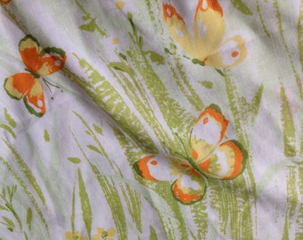 Pillowcase floral and BUTTERFLY print