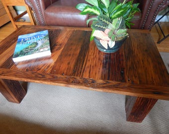 Reclaimed Wormy Chestnut Coffee Table