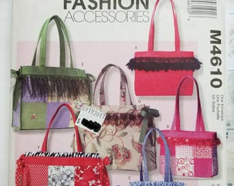 McCall's Fashion Accessories Pattern #M4610