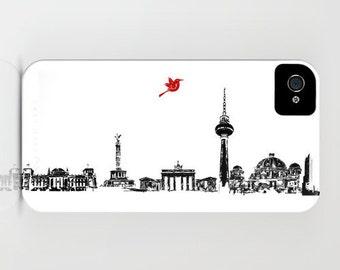 Berlin City Skyline on Phone Case -   Samsung Galaxy S7, iPhone 6S, iPhone 6 Plus, City Gifts, Germany, city skyline, iPhone 8