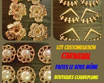 Set of 18 gold customisation Carnival