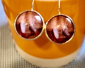 Wizard of Oz Dorothy and ruby slippers cabochon earrings - 16mm