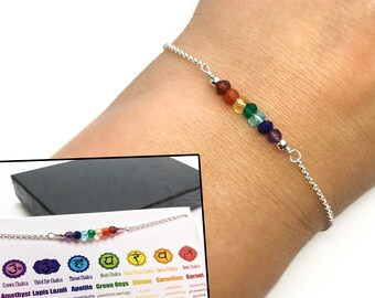 Chakra bracelet, Yoga bracelet, Meditation bracelet, 7 seven chakra bracelet, Healing bracelet