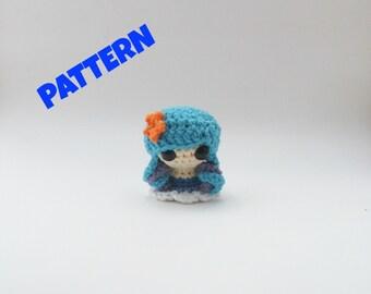 Water Element Doll Pattern, Crochet Doll Pattern, Amigurumi Doll Pattern, Crochet Patterns, Amigurumi Patterns, Crochet Amigurumi Pattern