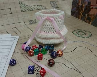 Ballerina Crocheted Dice Bag
